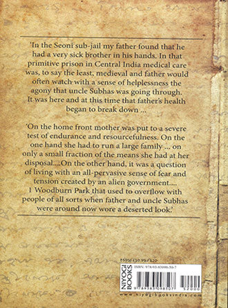 Sarat Chandra Bose Rememering My Father Back Cover