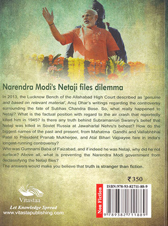 What Happened To Netaji Back From Death Back Cover