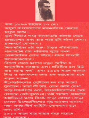 Upendrakishore Samagra Back Cover