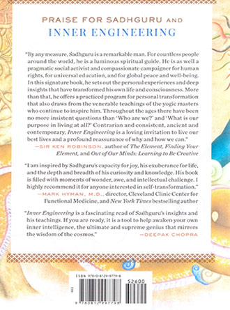 Inner Engineering A Yogis Guide To Joy Back Cover