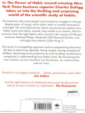 The Power Of Habit Back Cover