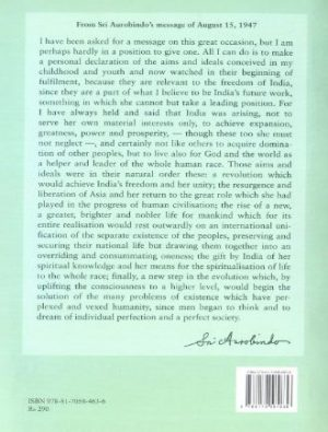 Sri Aurobindo On Nstionalism  Back Cover