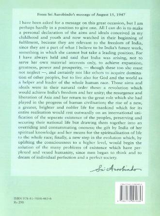 Sri Aurobindo On Nstionalism  Back Cover